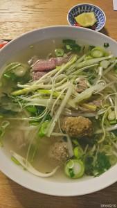 Suppe mit Rindfleisch