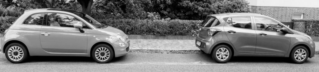 Der süße Fiat Cinquecento gegen den erwachseneren Hyundai i10