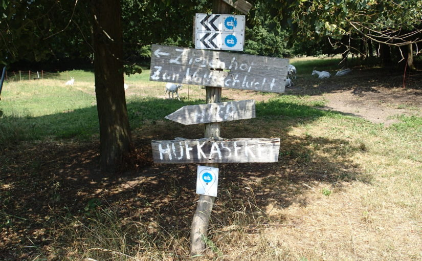 Signs at the Oder-Neisse cycleway