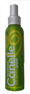El aerosol Canelle® viene en una botella de aluminio liviana
